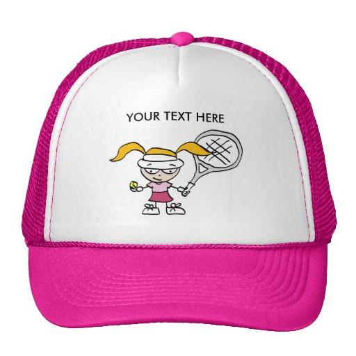 Pink Tennis Cap / Hat with customizable print