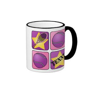 Pink Tennis Ringer Mug
