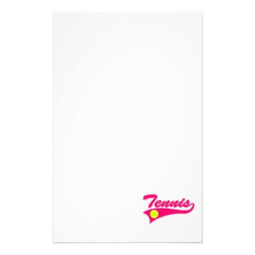 Pink Tennis Stationery Design