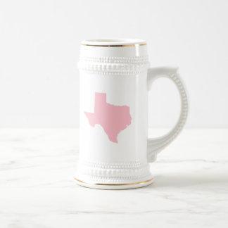Pink Texas Beer Stein