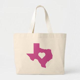 Pink Texas Large Tote Bag