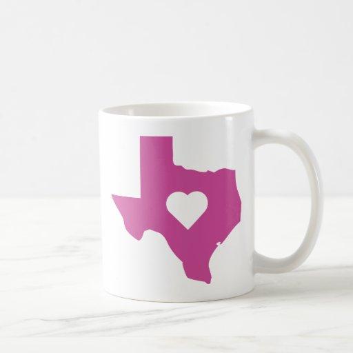 Pink Texas Mugs