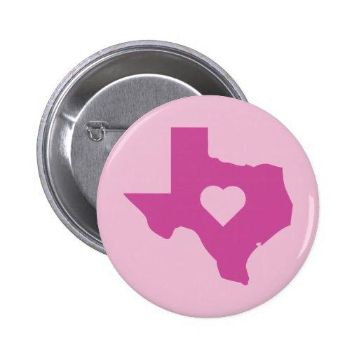 Pink Texas Pinback Buttons