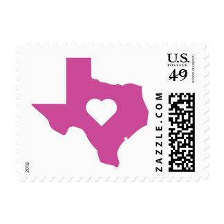 Pink Texas Postage Stamp
