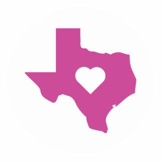 Pink Texas Statuette