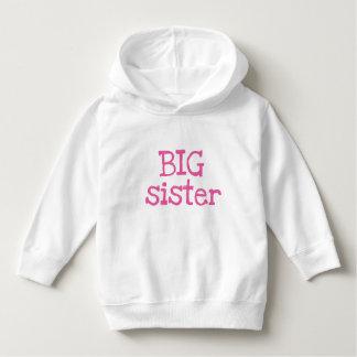 Pink Text Big Sister Hoodie