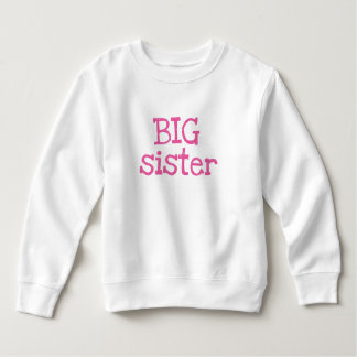 Pink Text Big Sister Sweatshirt
