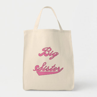 Pink Text Big Sister Tshirts and Gifts Tote Bag