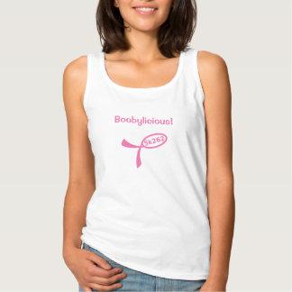 Pink text: Boobylicious! Basic Tank Top