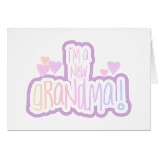 Pink Text I'm a New Grandma Card