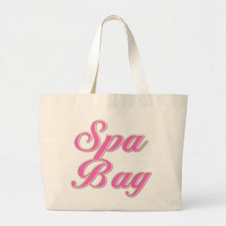 Pink Text Spa Bag Tote Bag