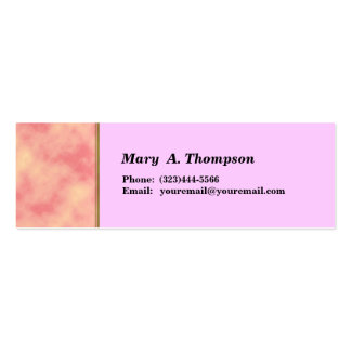 pink texture side border Double-Sided mini business cards (Pack of 20)