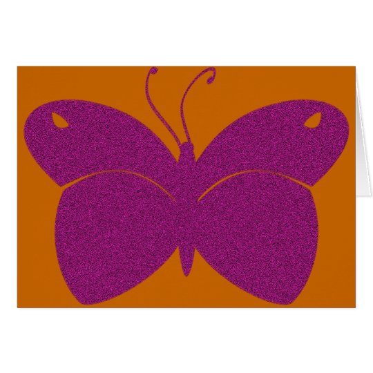 Pink Textured Butterfly Card