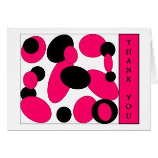 pink thank u card