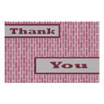"""pink Thank You 5.5"""" X 8.5"""" Flyer"""
