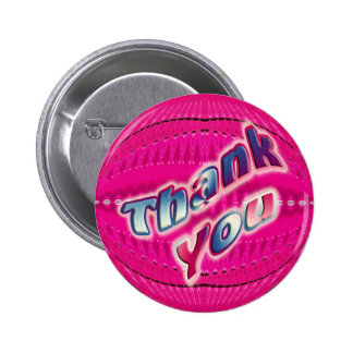 Pink Thank You Button