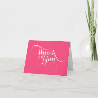 Pink Thank You Cards card