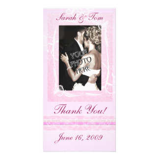 Pink Thank You Customized Photo Card