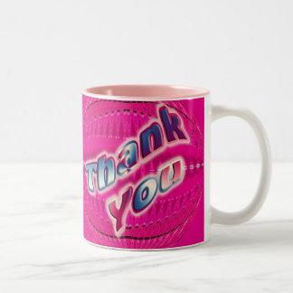 Pink Thank You Mugs