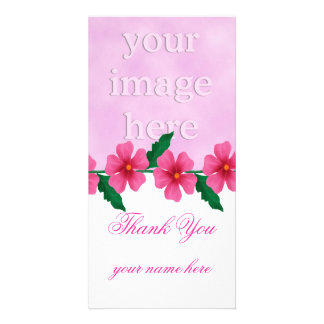 Pink Thank You Photo Cards