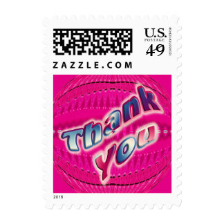 Pink Thank You Postage Stamp