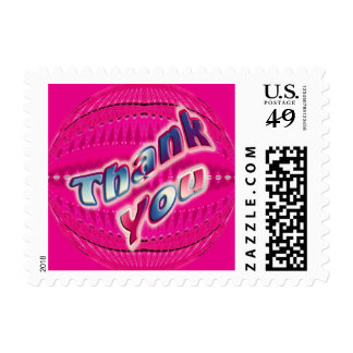 Pink Thank You Stamps