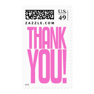 Pink Thank You! Postage Stamp