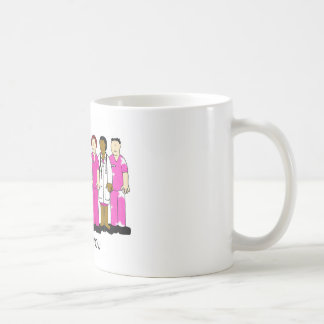 Pink Thank you to breast cancer medical team. Coffee Mug
