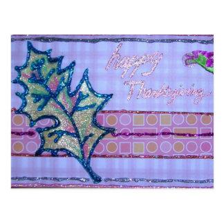Pink Thanksgiving Postcard