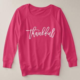 Pink Thanksgiving Sweatshirt Thankful Plus Size