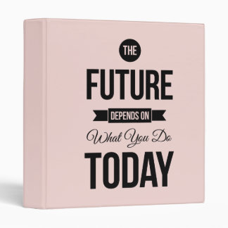 Pink The Future Inspirational Quote Binder