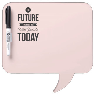 Pink The Future Inspirational Quote Dry Erase Board