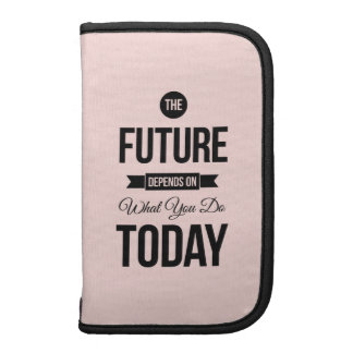 Pink The Future Inspirational Quote Organizer