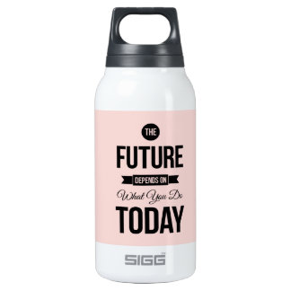 Pink The Future Inspirational Quote SIGG Thermo 0.3L Insulated Bottle