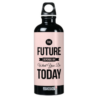 Pink The Future Inspirational Quote SIGG Traveler 0.6L Water Bottle