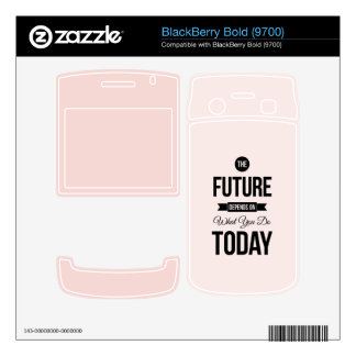 Pink The Future Inspirational Quote BlackBerry Decals