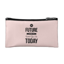 Pink The Future Wise Words Quote Makeup Bag