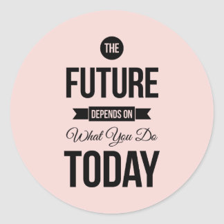 Pink The Future Wise Words Quote Sticker
