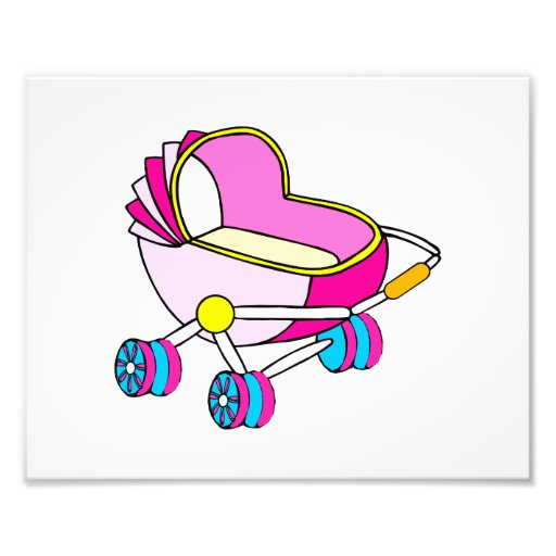 Pink theme baby carriage graphic photograph