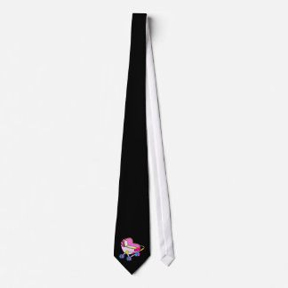 Pink theme baby carriage graphic tie