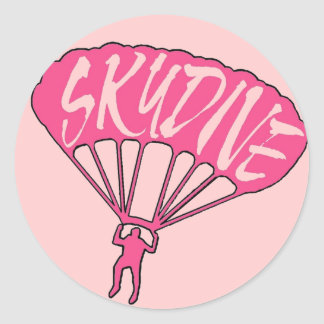 Pink theme skydive fanatic window stickers