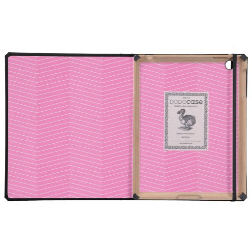 Pink Thin Chevron Pattern Case For iPad