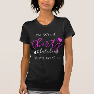 Pink Thirty Fabulous 30th Birthday Group Squad T Shirt