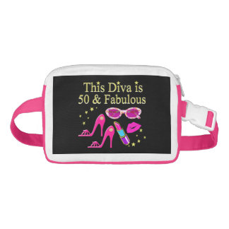 PINK THIS DIVA IS 50 & FABULOUS DESIGN FANNY PACK