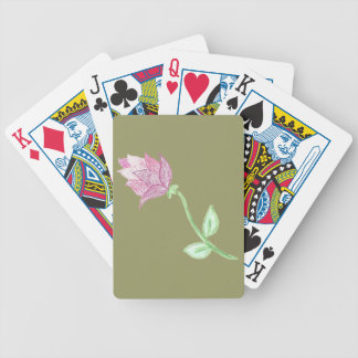 Pink Thistle Flower Motif Deck Of Cards