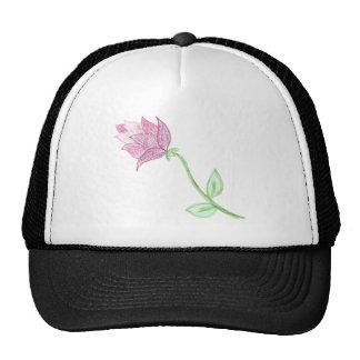 Pink Thistle Flower Motif Trucker Hat