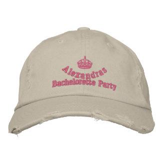 Pink tiara bachelorette party cap