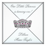 Pink Tiara Little Princess First Birthday Party Personalized Invite