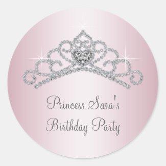 Pink Tiara Pink Princess Stickers