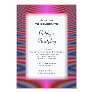 Pink Tie Dye Birthday Party Invitation